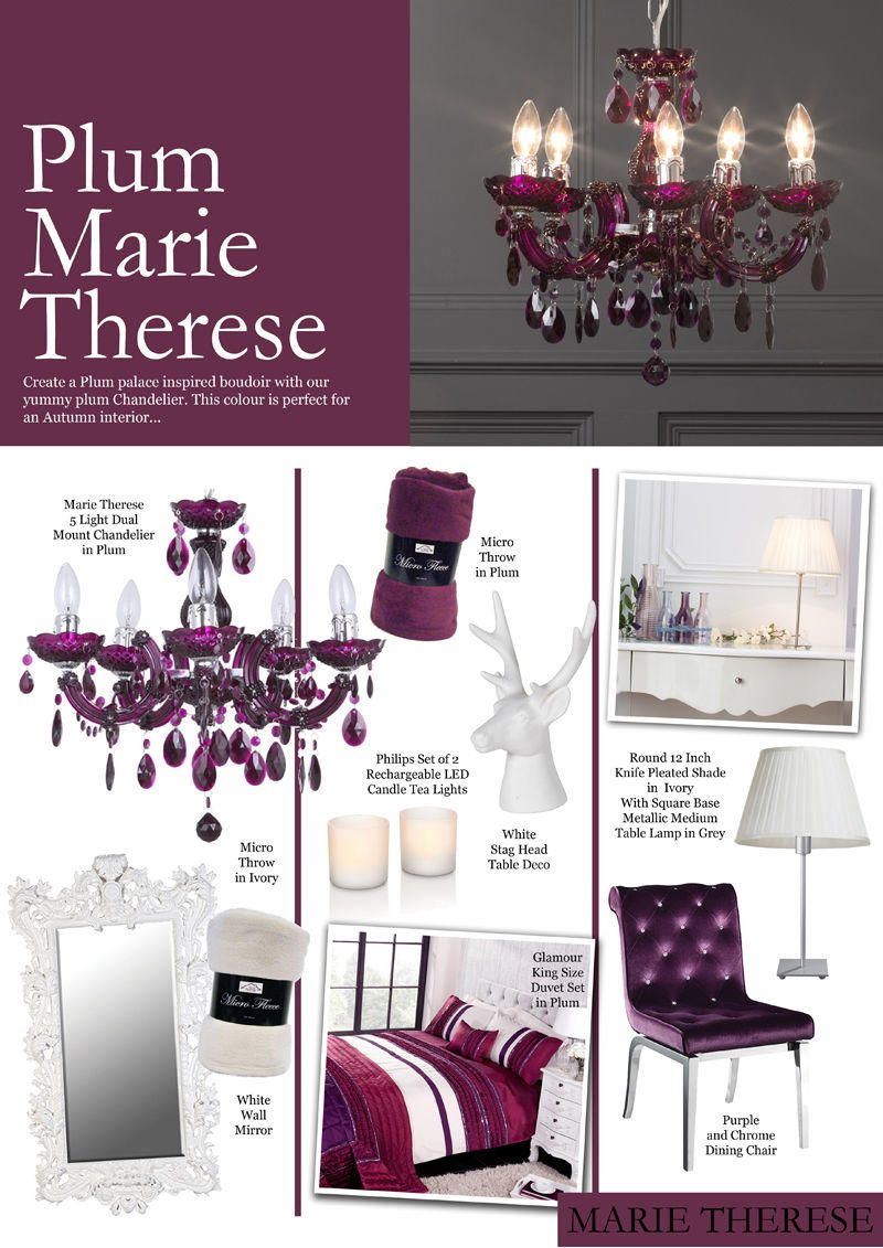 Crystal Week : Plum Marie Therese Crystal Chandelier