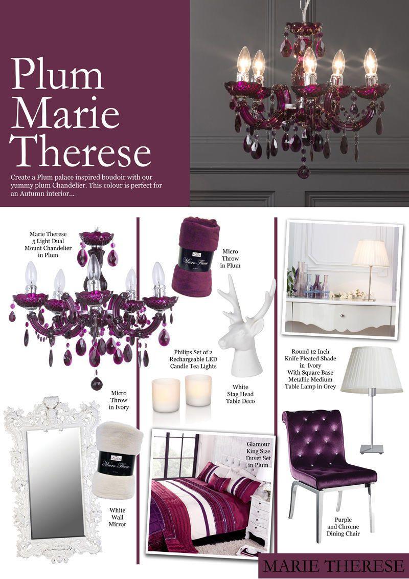 Crystal Week : Plum Marie Therese Crystal Chandelier