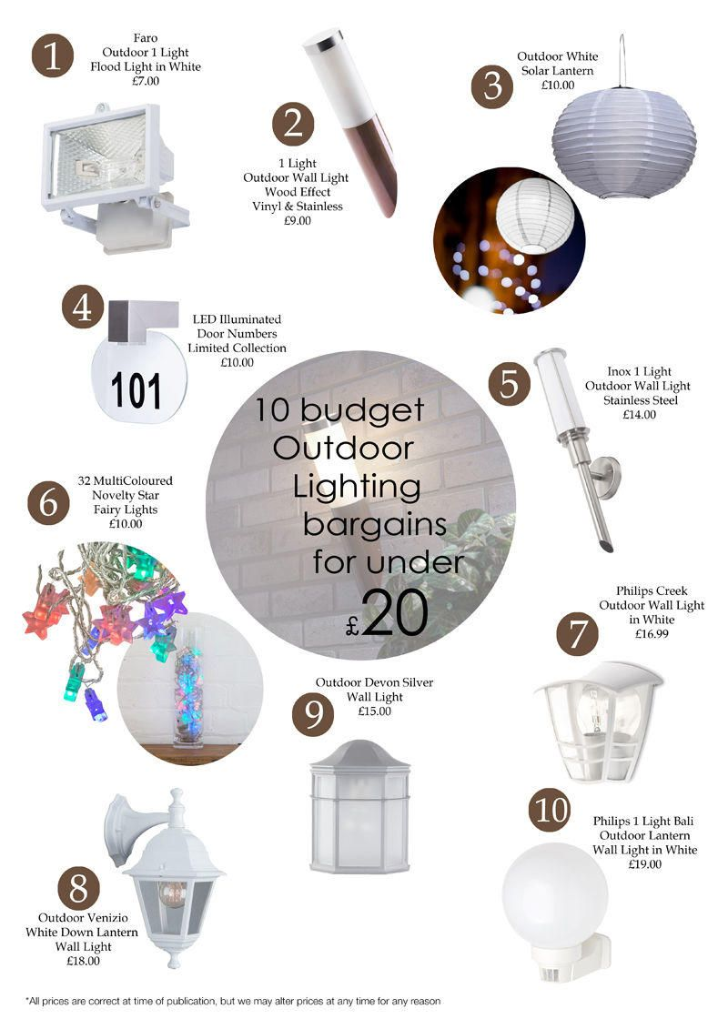 10 Budget Outdoor Lighting Bargains for under £20