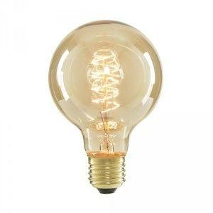 Decorative squirrel cage bulb with spiral filament