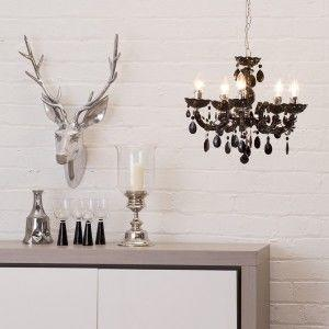 Black budget chandelier low price 5 light chandelier