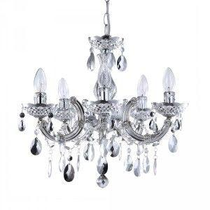 Budget chandeliers low price 5 light acrylic chandelier