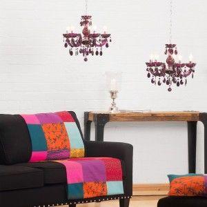 Budget chandelier low price purple chandelier