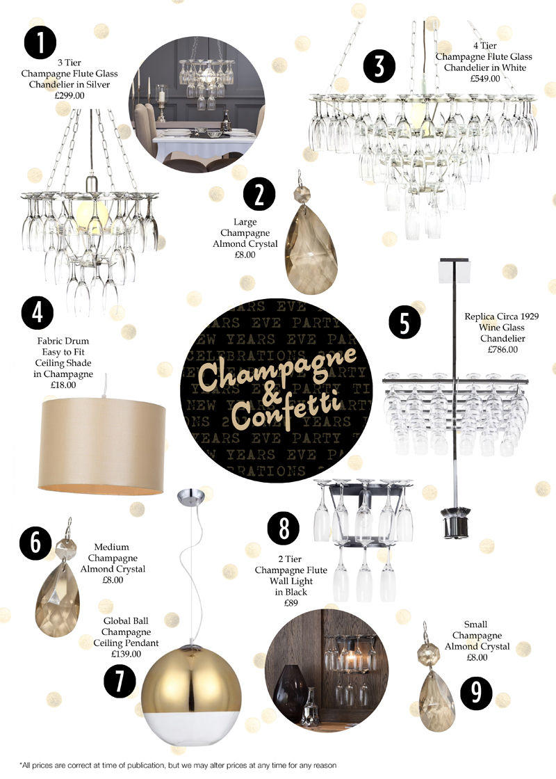 Champagne Flute Glass Chandeliers