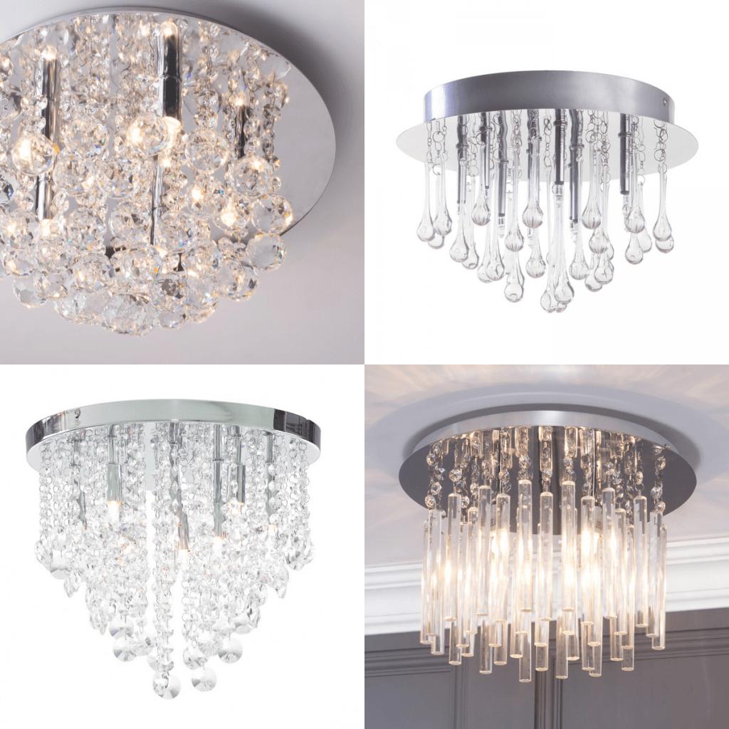 Semi flush ceiling lights crystal