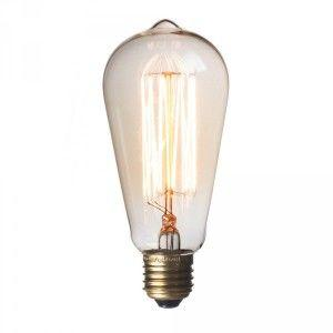 Squirrel cage bulb decorative light bulb