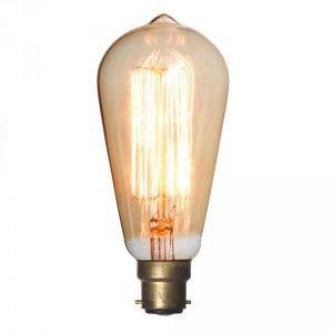 Gold tinted decorative squirrel cage bulb