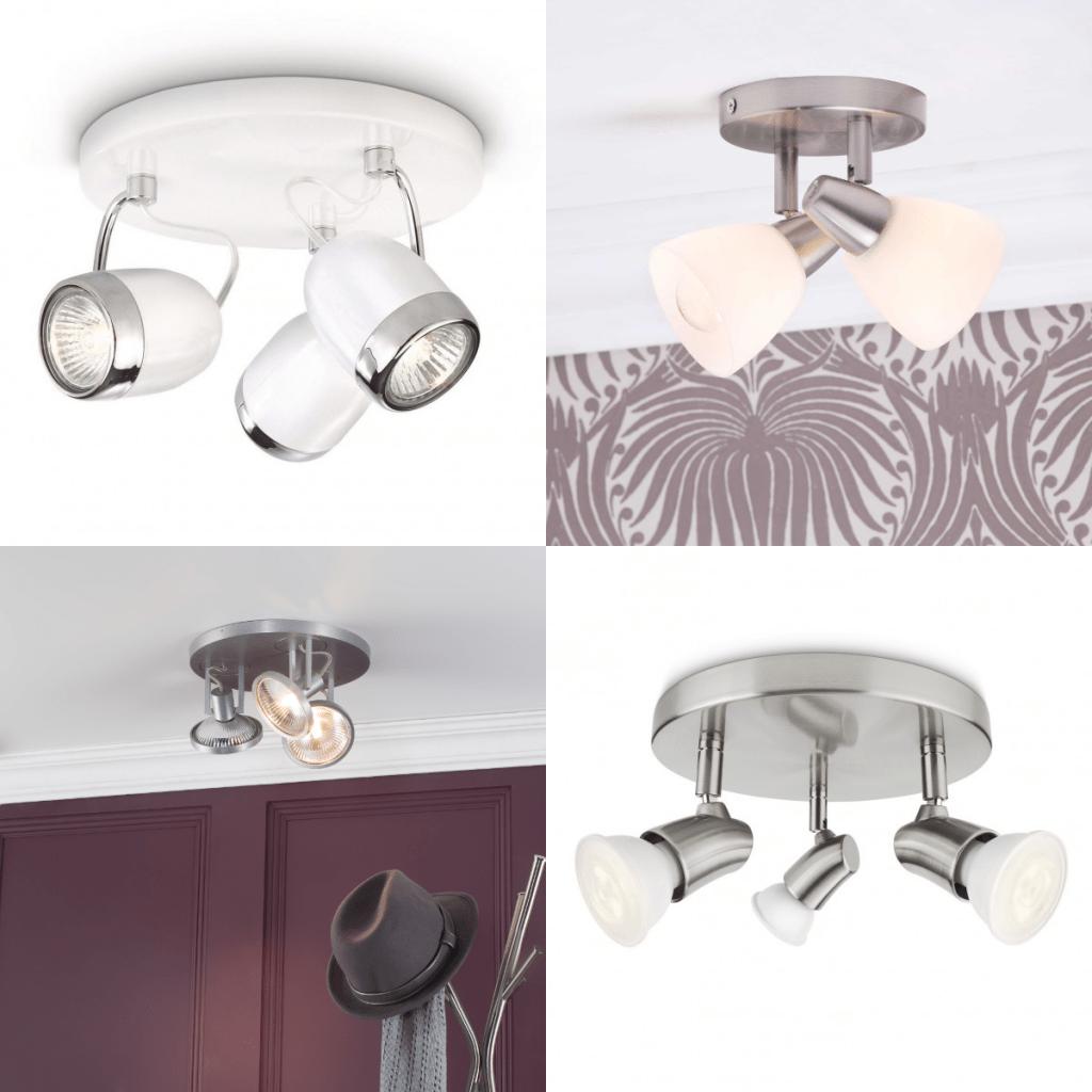 Semi flush spotlight ceiling light lighting for small rooms