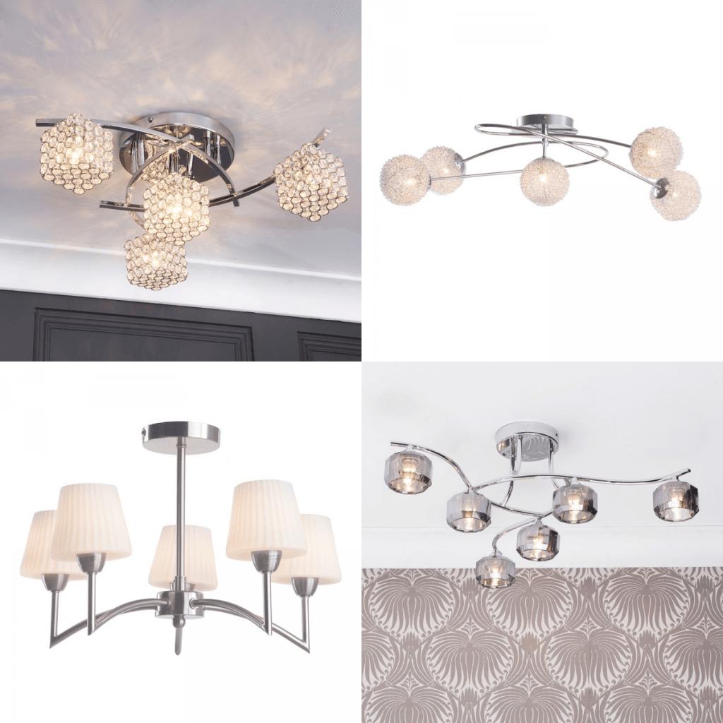 Semi flush ceiling lights lighting for small rooms