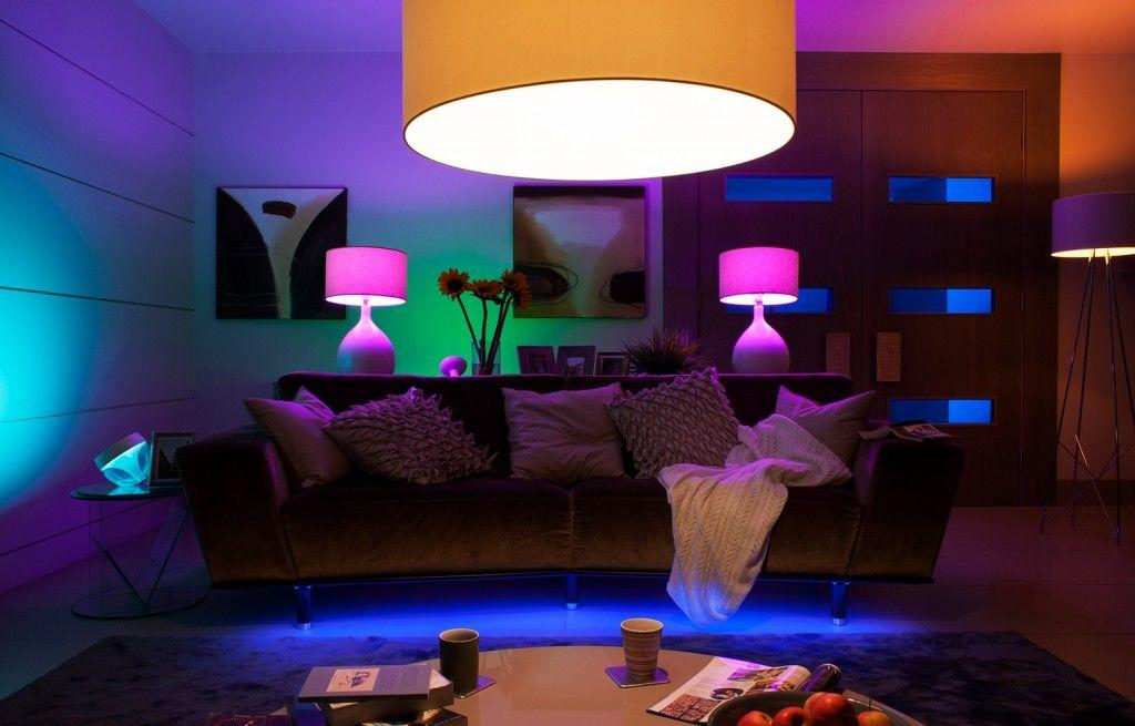 Philips coloured lighting strip lighting