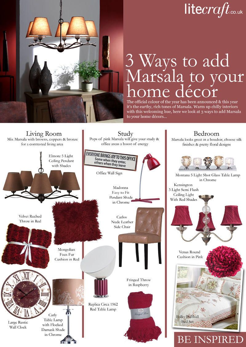 How to warm up chilly interiors using Marsala