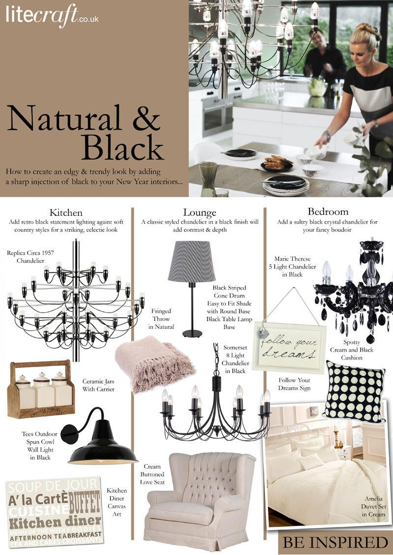 How to add dramatic black to your natural interiors