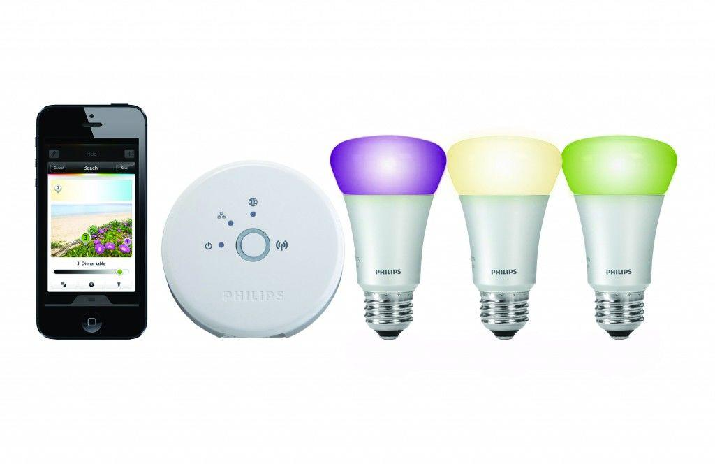 Colour changing smartphone light bulbs