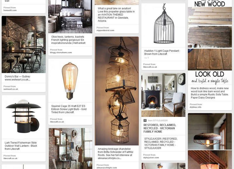 Salvage inspired living key lighting and accessories