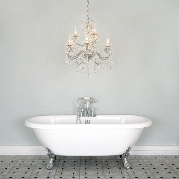 A guide to bathroom chandeliers litecraft things to think about when choosing a bathroom chandelier aloadofball Gallery