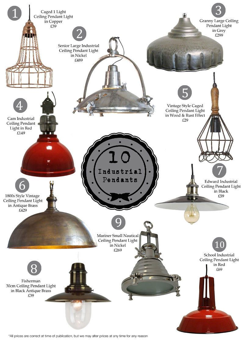 Our Top 10 Industrial Pendants