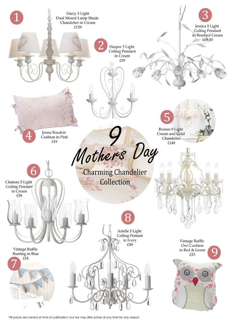 9 Mothers Day Charming Chandelier Collections