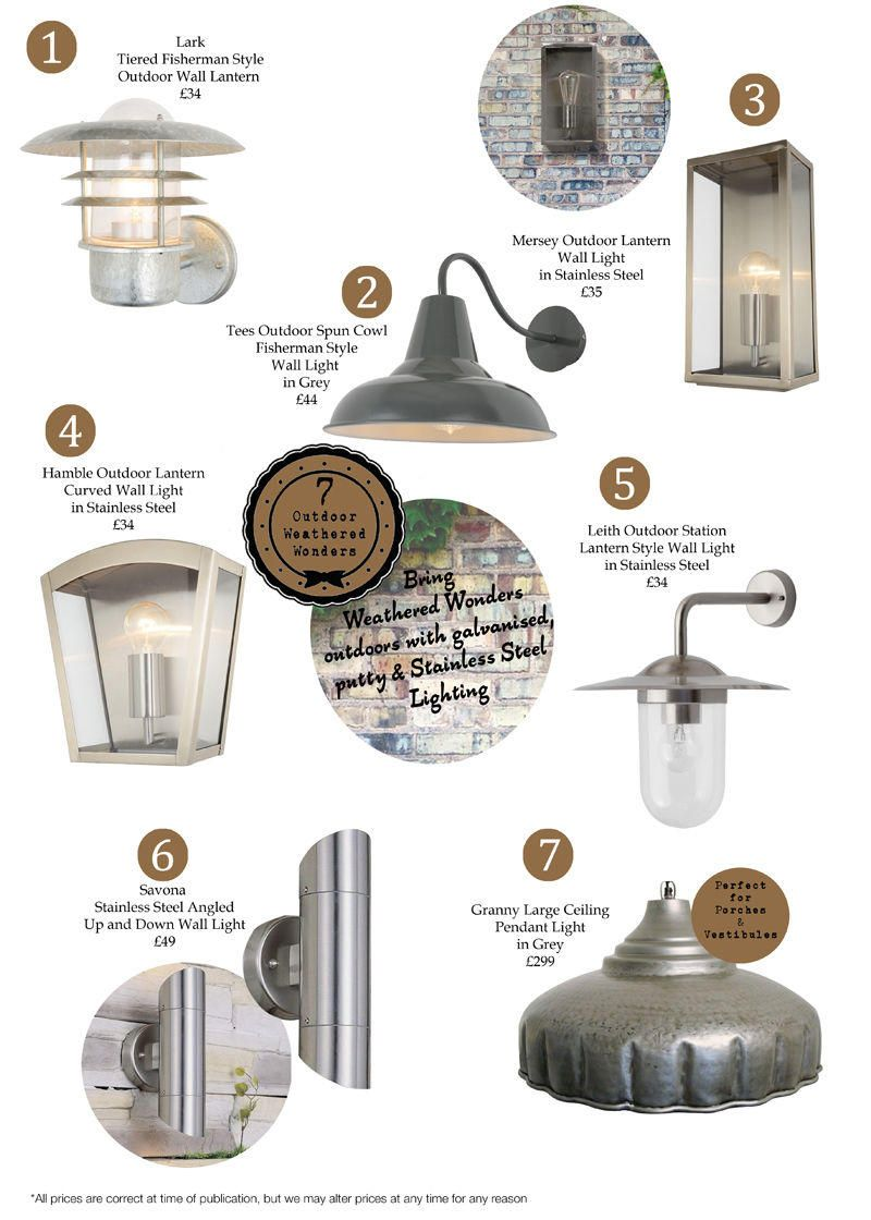 Weathered Wonders : Our top 7 Outdoor Wall Lights