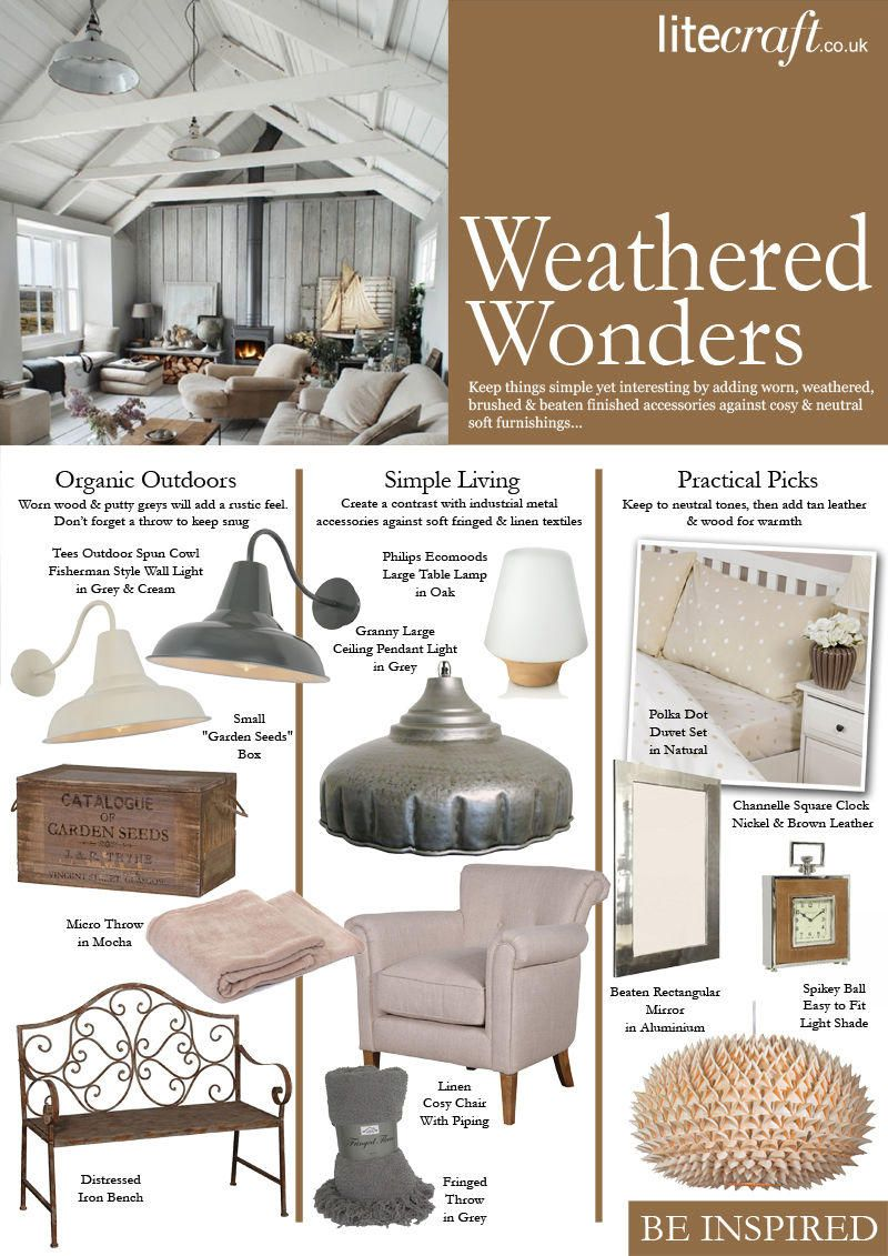 Adding weathered and worn accessories to your interiors