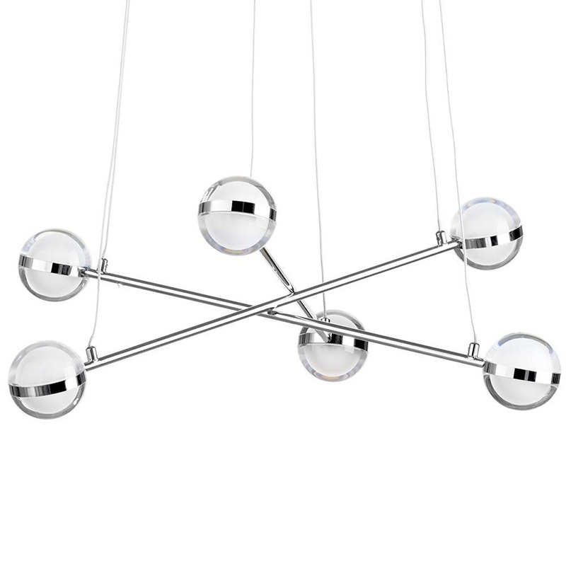 Large Kitchen Island Lighting - glass ball ceiling pendant
