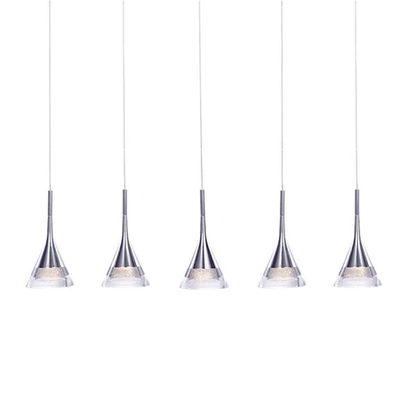 Kitchen Island Lighting - conical 5 Light Pendant