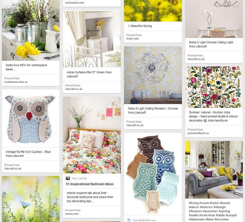 Spring Inspired Lighting Pinterest Board