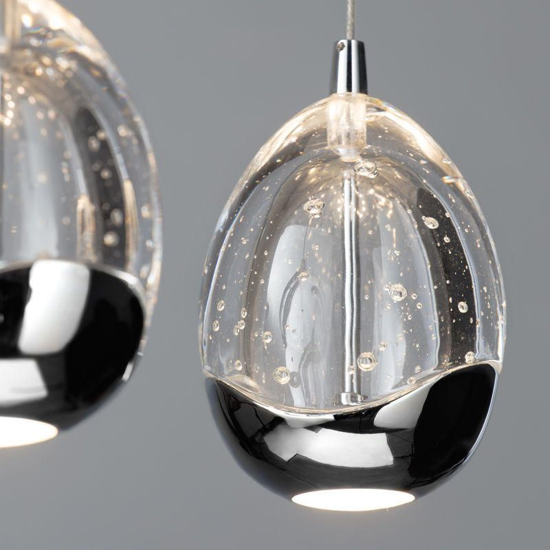 New Lighting Tegg 7 Light LED Spiral Ceiling Light - Chrome