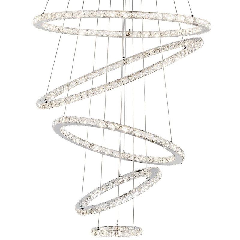 Large Kitchen Island Lighting - Five Hoop LED Pendant