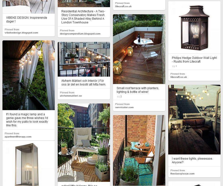 Balcony Lighting and Decor Ideas Pinterest Board