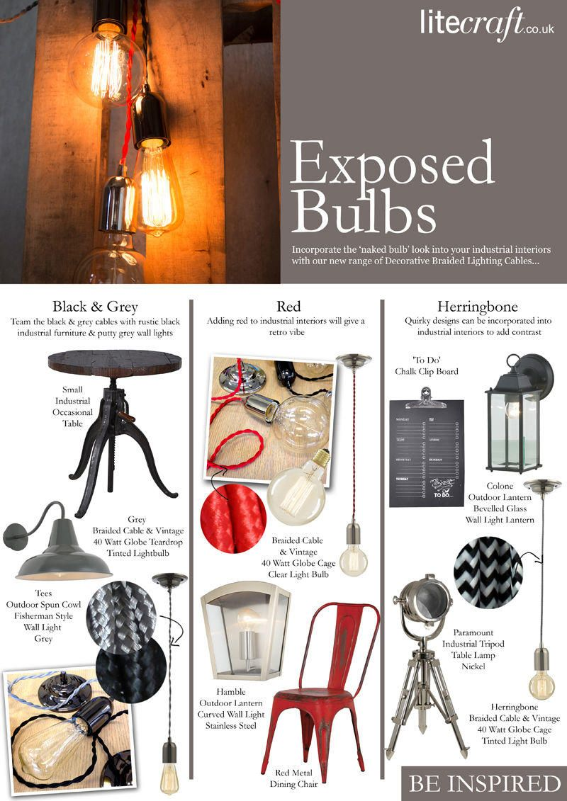 Be Inspired : Exposed Bulbs