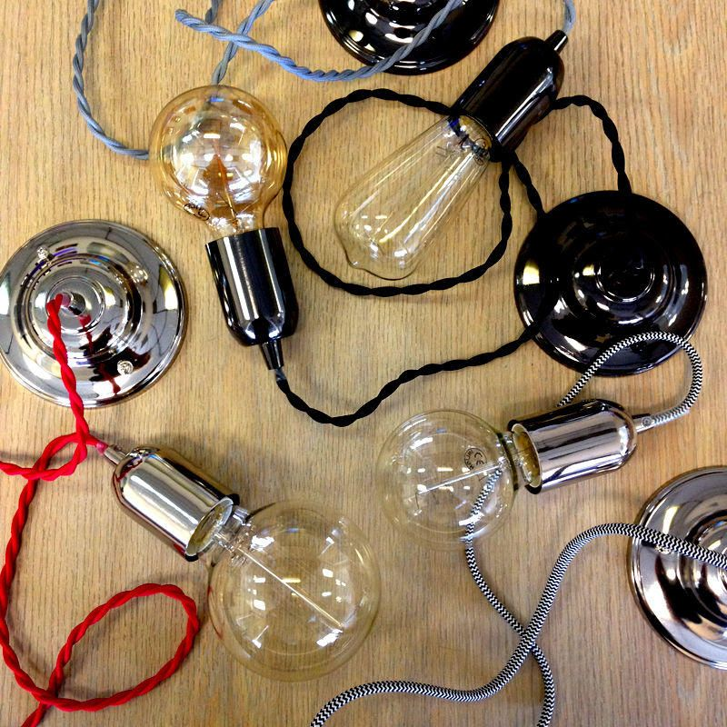 New in : Decorative Twisted Braided Lighting Cables for Filament Bulbs