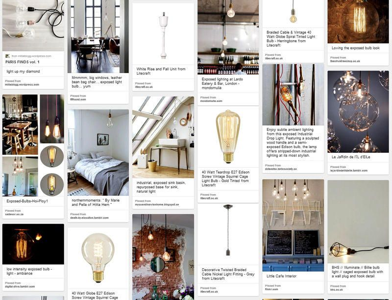 Decorative Twisted Braided Lighting Cables for Filament Bulbs