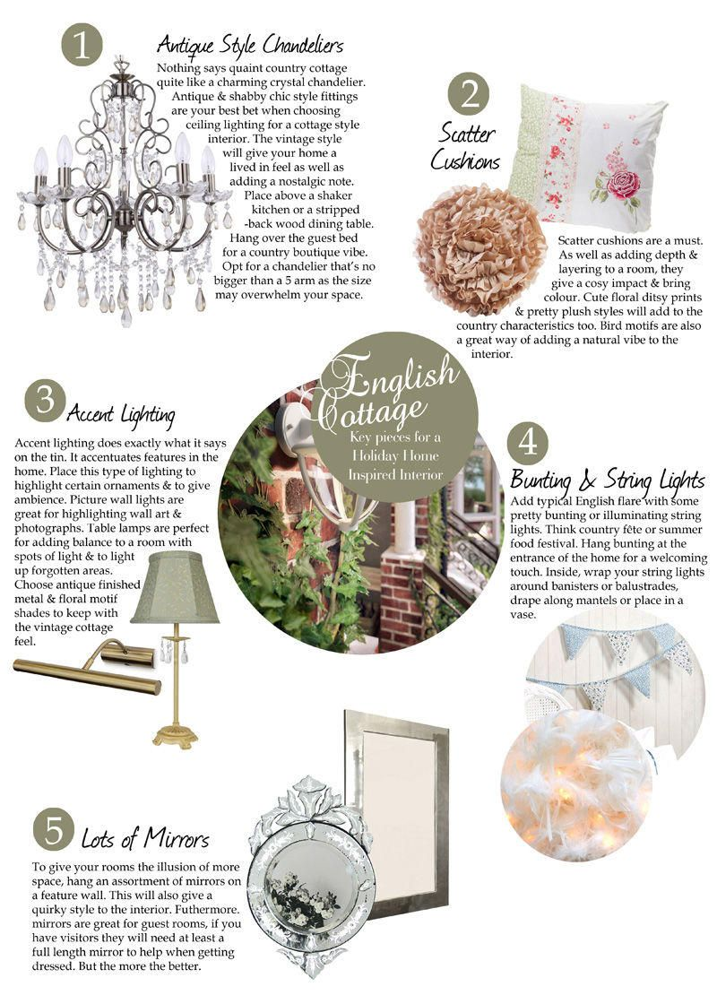 Key pieces for a Holiday Home Inspired Interior