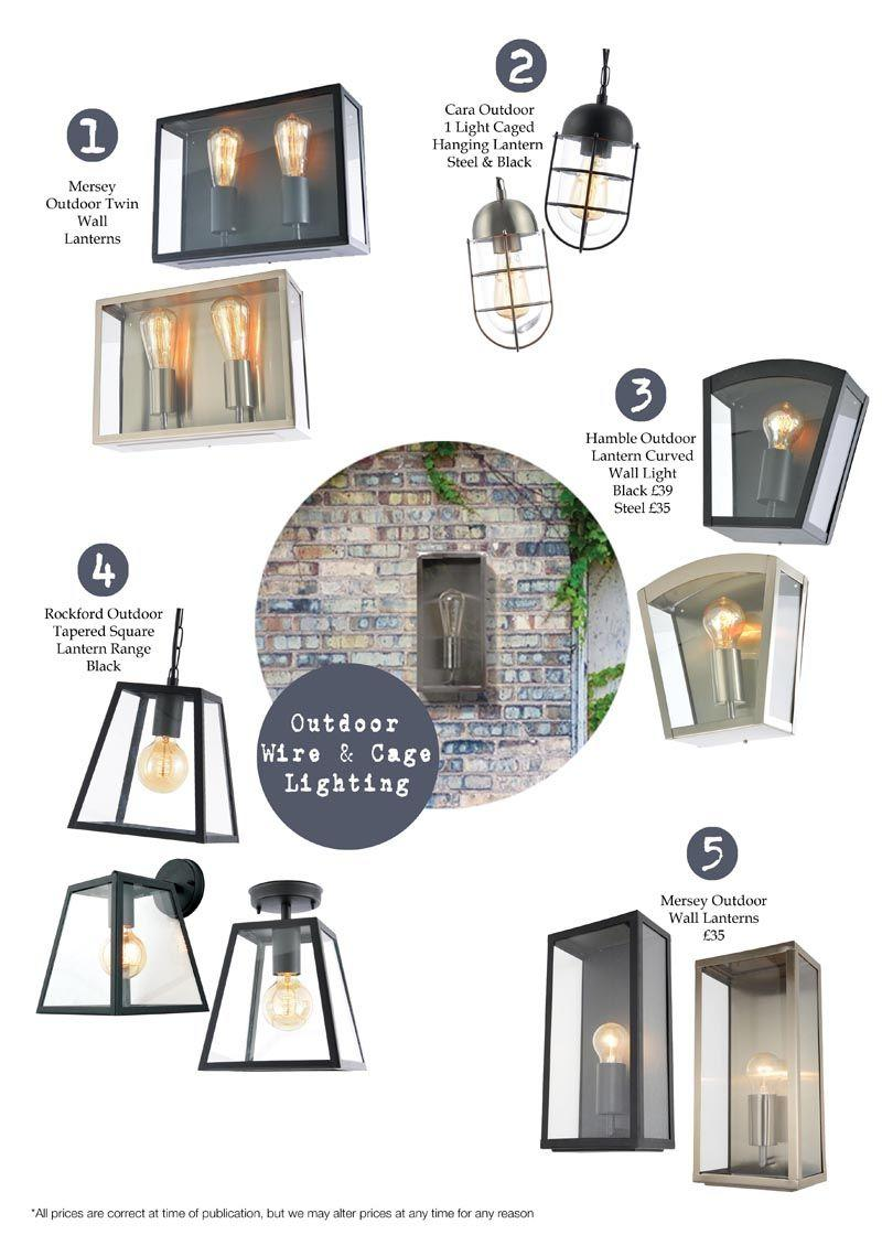 New In : Wire, Boxed and Cage Outdoor Lighting