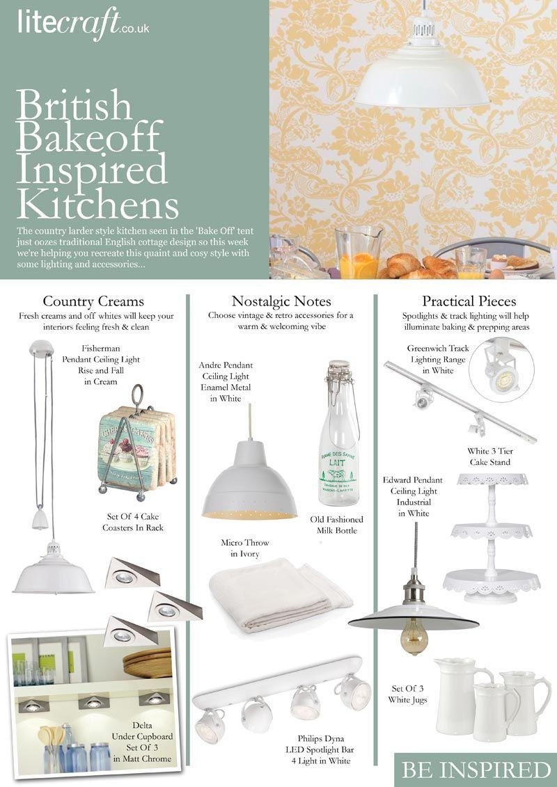How to choose lighting for a Bake Off Inspired Kitchen