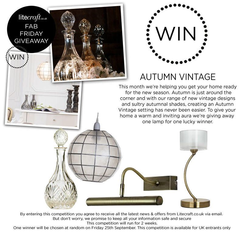 Competition Time : Win an Autumn Inspired Lamp