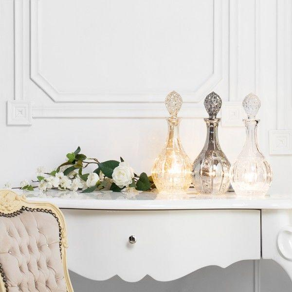 1 Light Glass Decanter Table Lamps