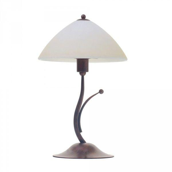 Rame Antique Brass Table Lamp with Glass Shade