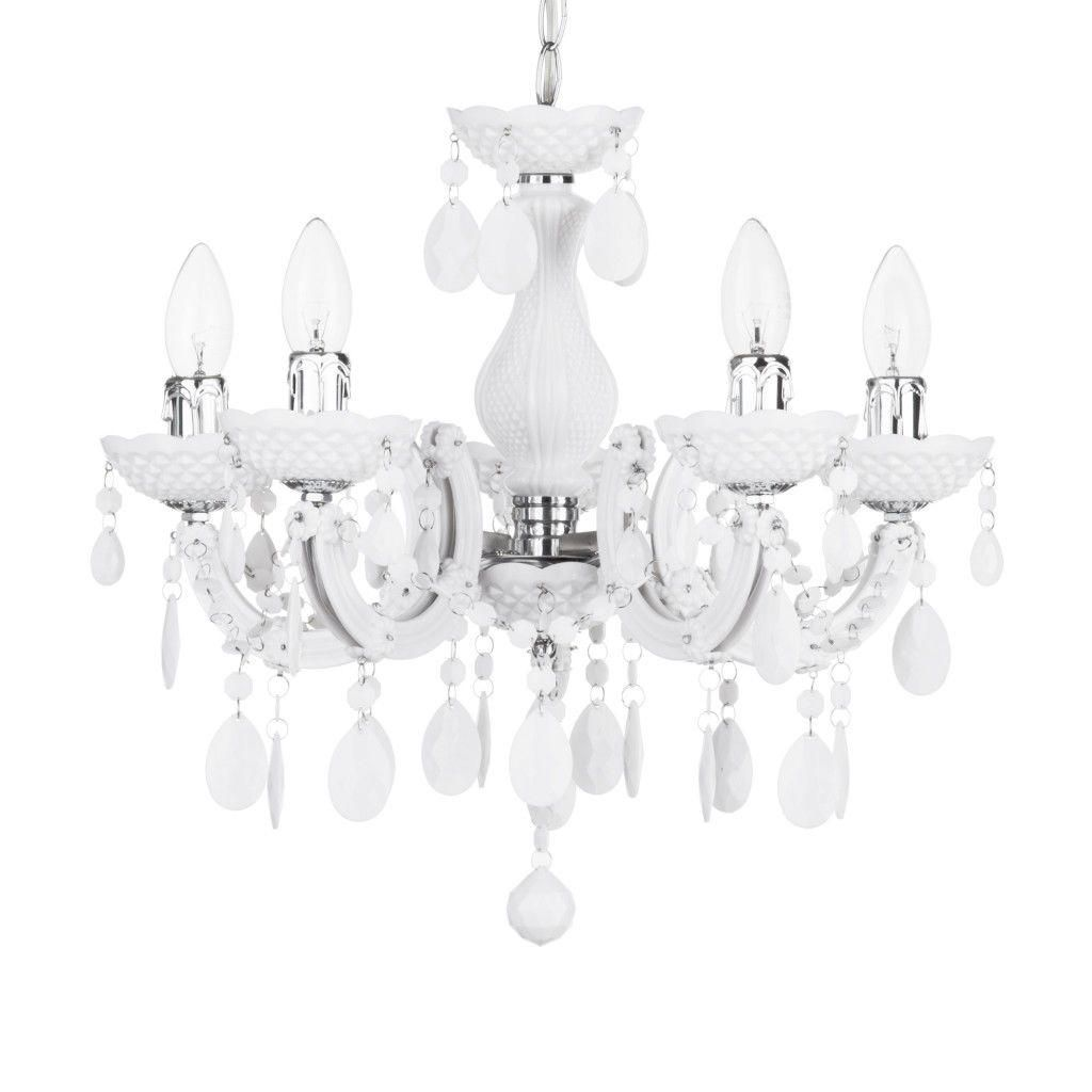 Hallway Decor : Marie Therese Chandelier 5 Light Dual Mount - White