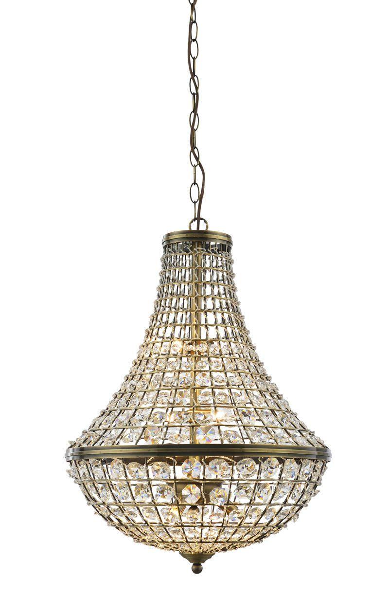 Hibernate at Home Interiors Crystal Basket Pendant