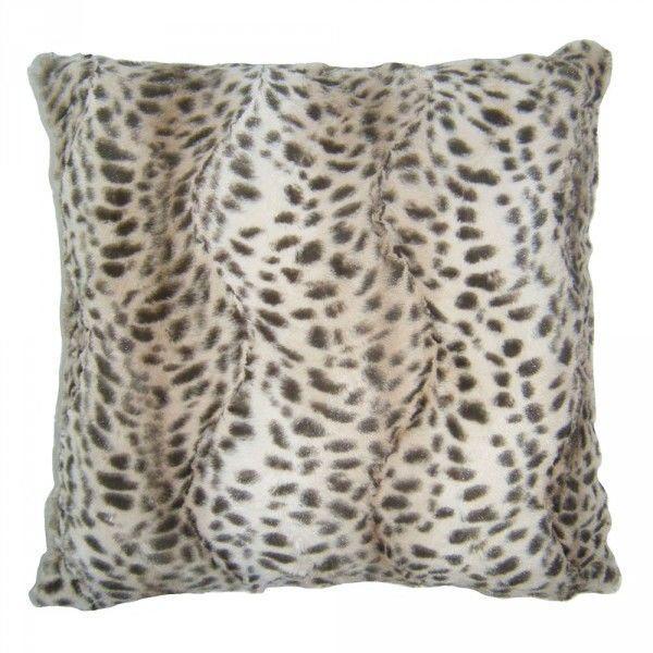 Hibernate at Home Interiors Leopard Print Jacquard Cushion