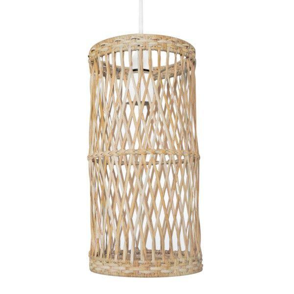 Hibernate at Home Interiors Milton Easy to Fit Light Shade Wicker Woven Cylinder