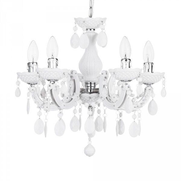 New in : Marie Therese Chandelier White