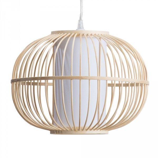 Hibernate at Home Interiors Skittle Easy to Fit Light Shade Rattan Globe - Wood