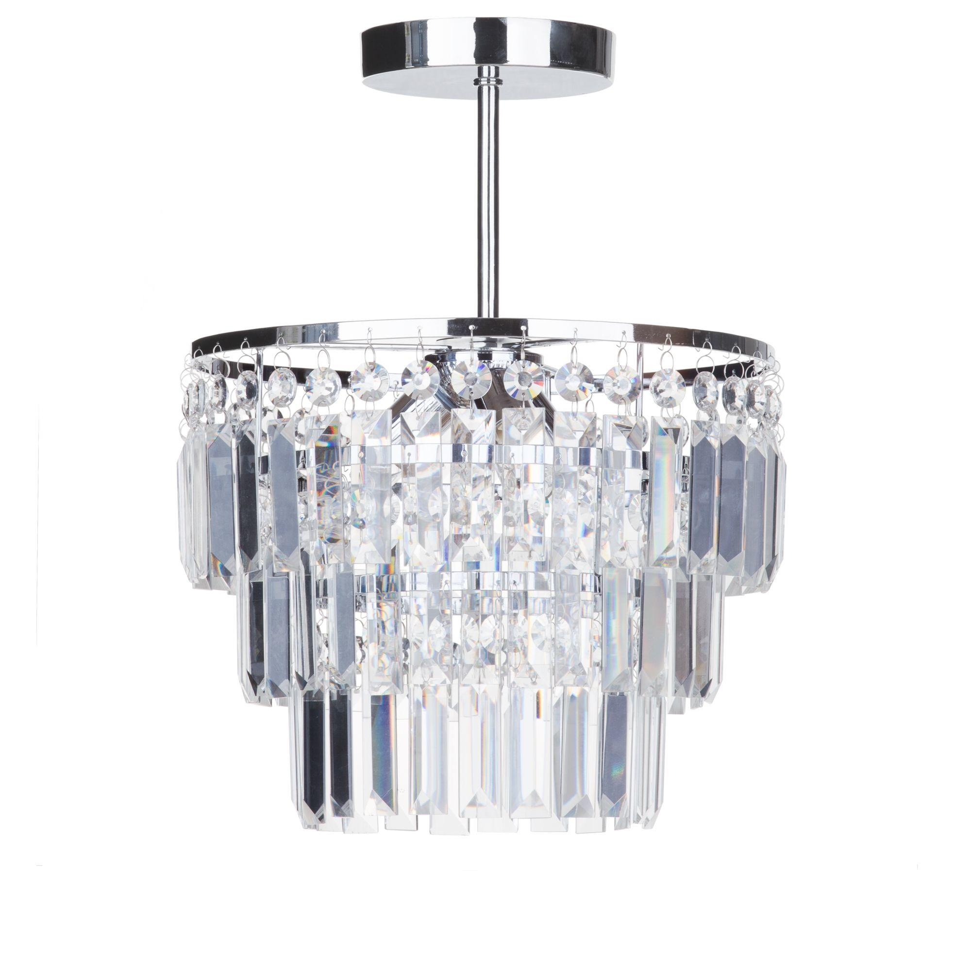 Bathroom Lighting Vasca Crystal Bar Bathroom Chandelier Semi Flush