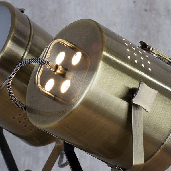 Hollywood Vintage Twin Spotlight Floor Lamp - Industrial