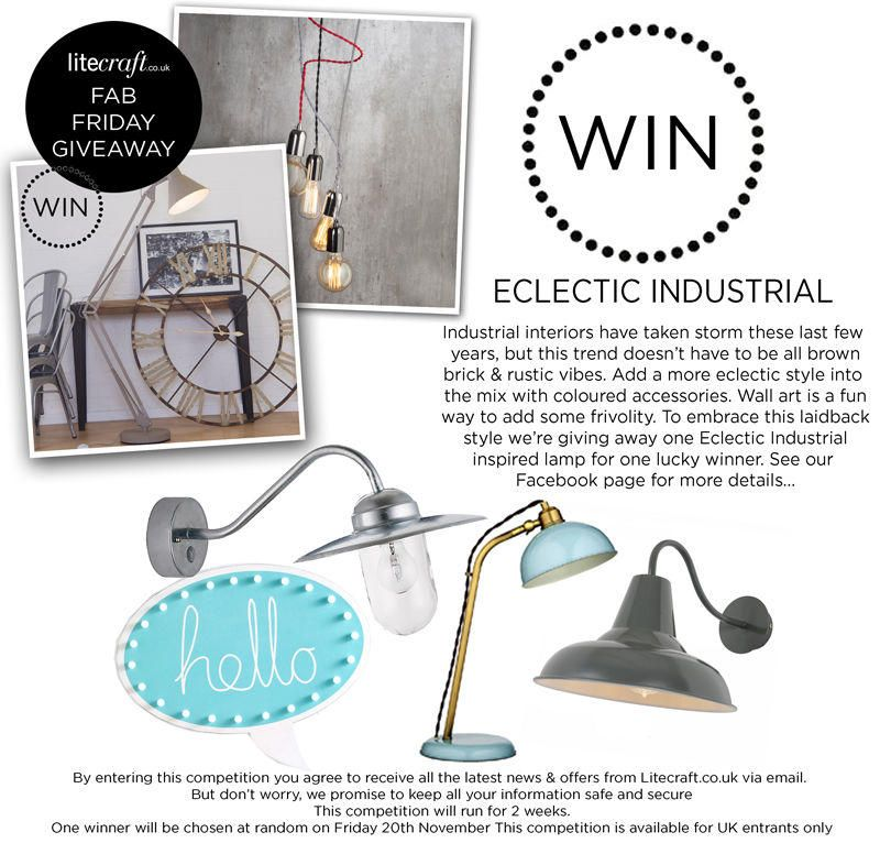 Competition Time : Win an Eclectic Industrial Inspired Lamp