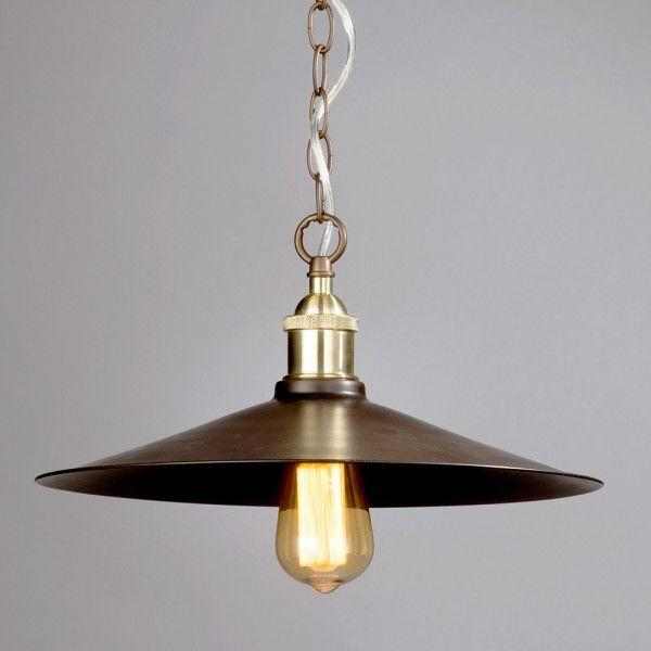 1 Light Industrial Diner Ceiling Pendant - Bronze