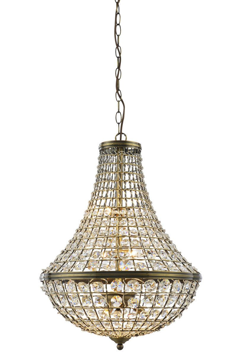 Crystal Basket Pendant Chandelier