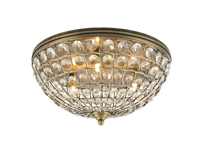Crystal Basket Flush Chandelier